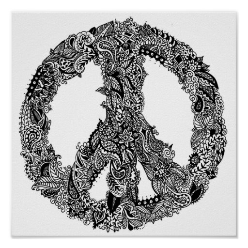Henna Peace Sign