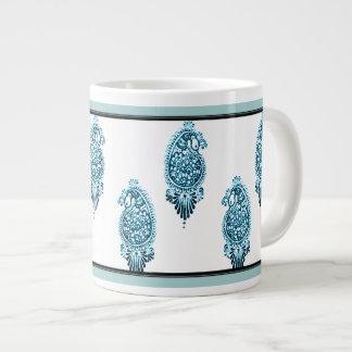 Henna Peacock Blue Jumbo Mug