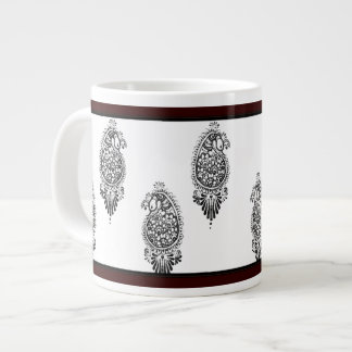 Henna Peacock Jumbo Mug