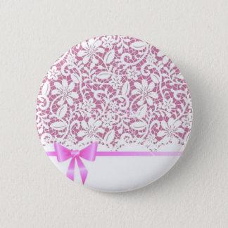 henna*Pink*Lace 6 Cm Round Badge