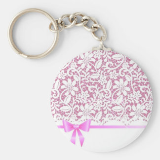 henna Pink Lace Keychain