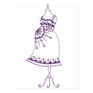 Henna pregnant  Belly Postcard