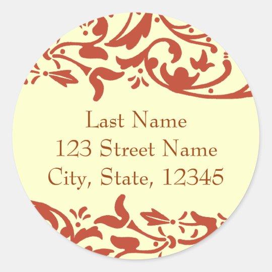Henna Return Address Envelope Seal