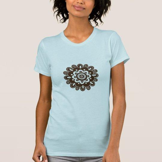 Henna Style Flower Mandala T-Shirt