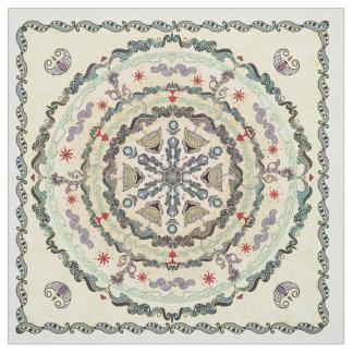 Henna Style Mandala Fabric
