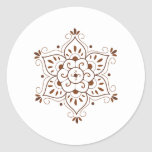 Henna Tattoo Mandala Classic Round Sticker