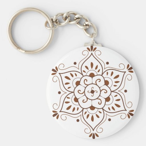 Henna Tattoo Mandala Key Chain