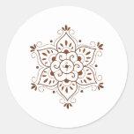 Henna Tattoo Mandala Round Sticker