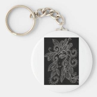 henna woman key chain