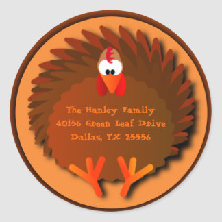 Henny Thanksgiving Address Label Round Sticker