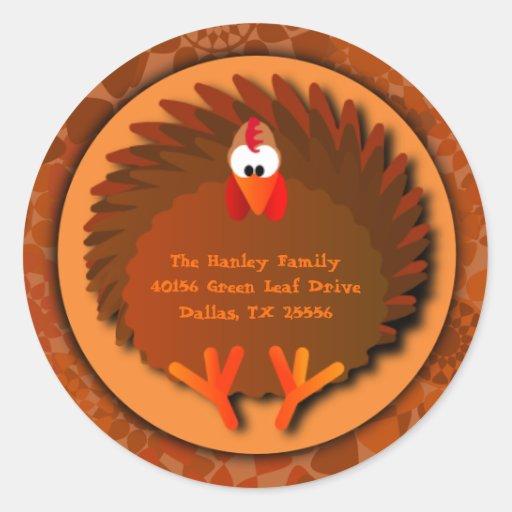 Henny Thanksgiving Address Label Stickers