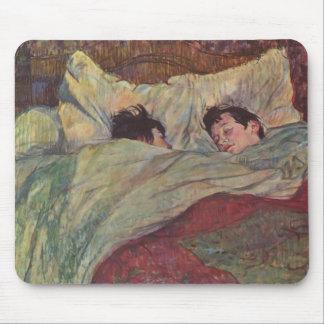 Henri de Toulouse-Lautrec- In bed Mouse Pads