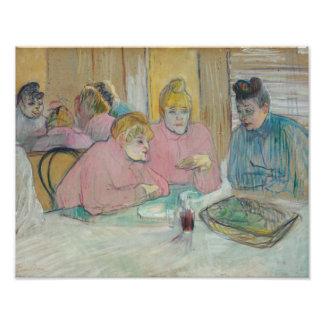Henri de Toulouse-Lautrec - Ladies in Dining Room Photograph