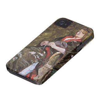 Henri de Toulouse-Lautrec-Lili Grenier in a Kimono Case-Mate iPhone 4 Cases
