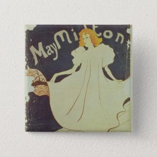 Henri de Toulouse-Lautrec | May Milton, France 15 Cm Square Badge