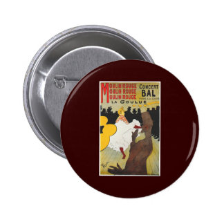 Henri de Toulouse Lautrec Moulin Rogue 6 Cm Round Badge