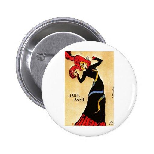 Henri de Toulouse-Lautrec Pinback Buttons