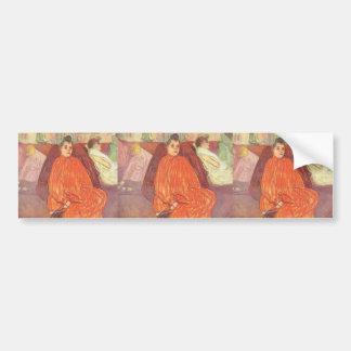 Henri de Toulouse-Lautrec- The Divan Bumper Stickers