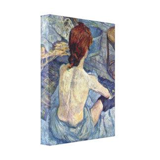 Henri de Toulouse-Lautrec - The toilet Stretched Canvas Print