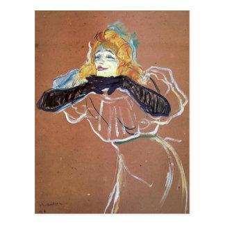 Henri de Toulouse-Lautrec- Yvette Guibert singing Postcard