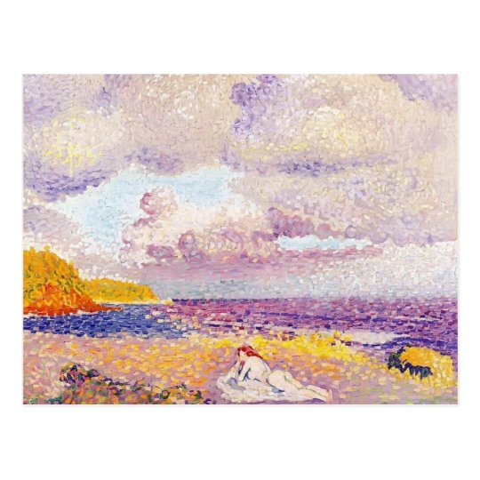Henri-Edmond Cross- An Incoming Storm Postcard