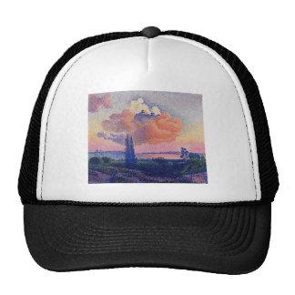 Henri-Edmond Cross- The Pink Cloud Mesh Hats