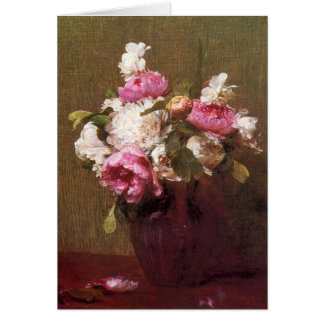Henri Fantin-Latour Peonies and Roses Card