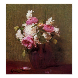 Henri Fantin-Latour Peonies and Roses Poster