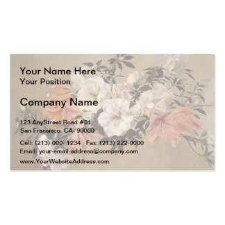 Henri Fantin-Latour- Petunias Business Card