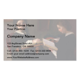 Henri Fantin-Latour- The Two Sisters Business Card Templates