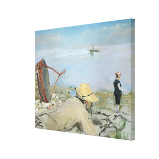 Henri Guerard Relaxing on the Beach (pastel on can Canvas Print