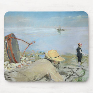 Henri Guerard Relaxing on the Beach (pastel on can Mouse Pad