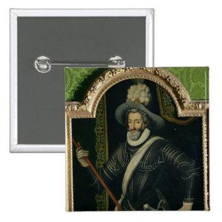 Henri IV  King of France and Navarre, c.1595 15 Cm Square Badge