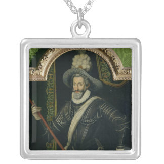 Henri IV  King of France and Navarre, c.1595 Silver Plated Necklace