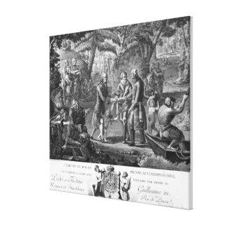Henri IV  reconciling Frederick William II Canvas Print