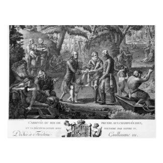 Henri IV  reconciling Frederick William II Postcard