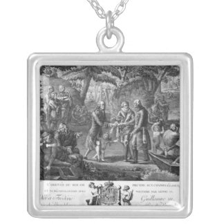 Henri IV  reconciling Frederick William II Silver Plated Necklace