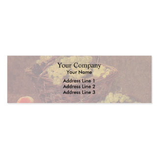 Henri Latour- Basket of White Grapes and Peaches Pack Of Skinny Business Cards