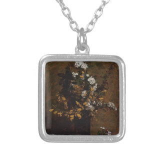 Henri Latour-Broom,Other Spring Flowers in a Vase Personalized Necklace