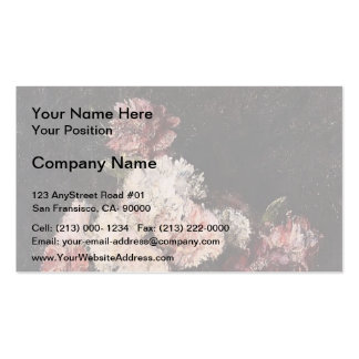 Henri Latour- Carnations in a Champagne Glass Business Card Templates