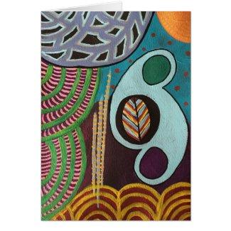 """Henri"" modern abstract art Greeting Card"