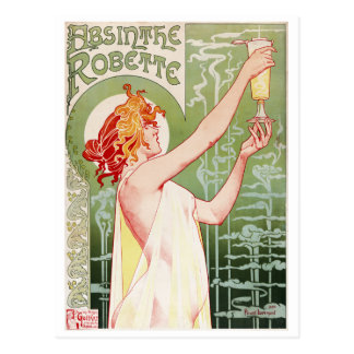 Henri-Privat-Livemont. Absinthe Robette 1896 Postcard