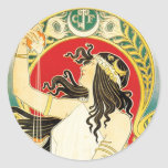 Henri Privat~Livemont ~ Art Nouveau Sticker