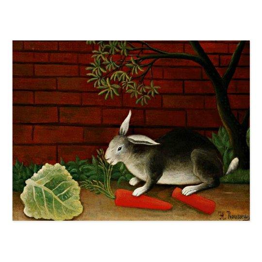 Henri Rousseau art: Rabbit Postcard