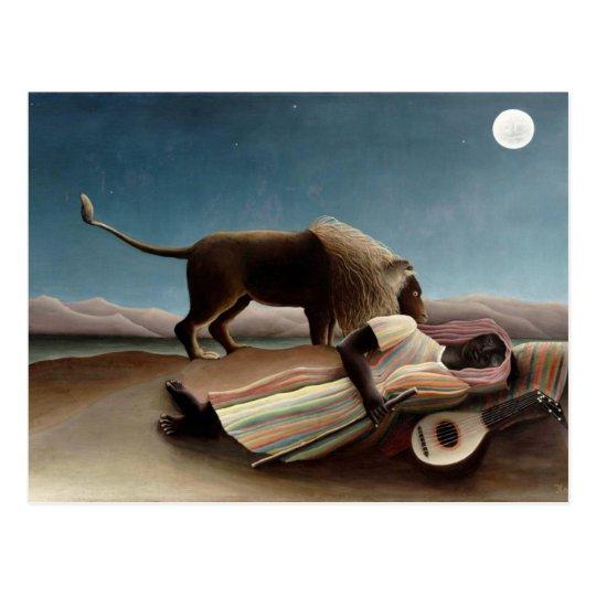 Henri Rousseau art: Sleeping Gypsy Postcard