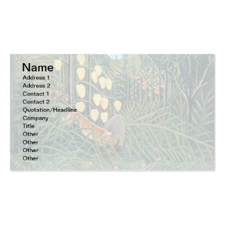 Henri Rousseau - Battling Tiger and Buffalo Pack Of Standard Business Cards