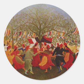 Henri Rousseau- Centennial ofIndependence Round Stickers
