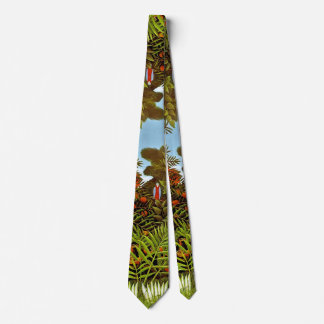 Henri Rousseau - Exotic Landscape Jungle Art Tie