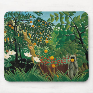 Henri Rousseau Exotic Landscape Mouse Pad