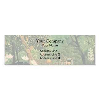 Henri Rousseau- Exotic Landscape Pack Of Skinny Business Cards